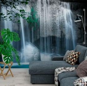 Murales in vinile cascate erawan tailandia