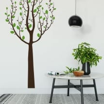 Adesivi in vinile albero con foglie