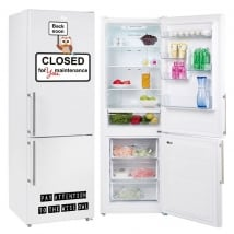 Vinili frigoriferi frase closed for you maintenance