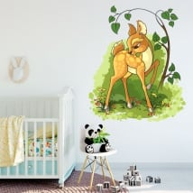 Vinile decorativo dei bambini bambi