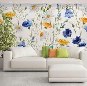 Murales fiori da decorare
