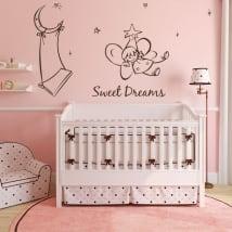 Vinile decorativo per bambini angelo sogni d'oro