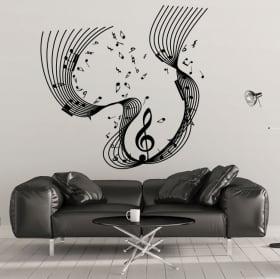 Cascata musicale vinile decorativo