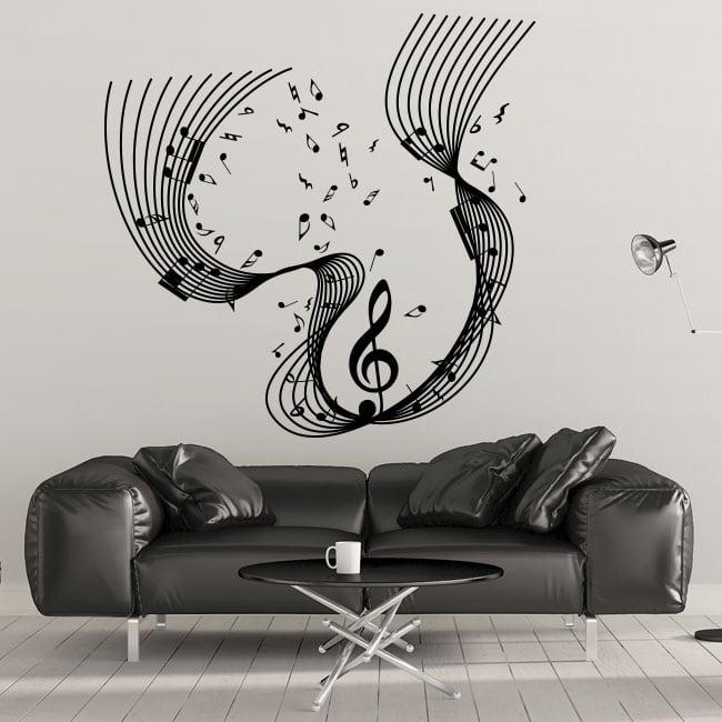 Vinile decorativo personale note musicali