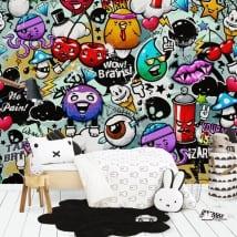 Murales in vinile graffiti giovanili
