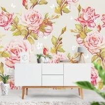 Murali adesivi con fiori da decorare