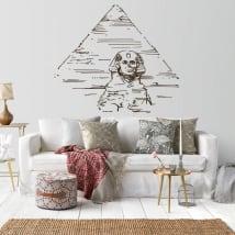 Vinile decorativo piramidi e grande sfinge di guiza