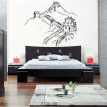 Vinile decorativo il grande muro cinese