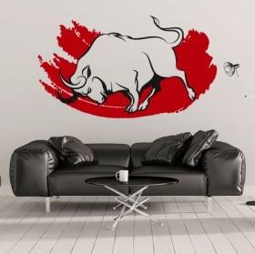 Vinile decorativo e adesivi toro rosso