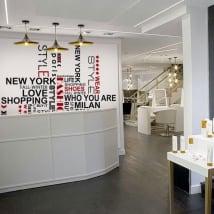 Vinile decorativo frasi per negozi