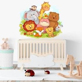 Vinile decorativo e adesivi animali da bambini
