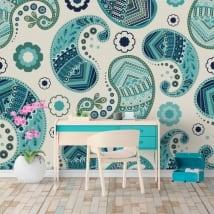 Murales di vinile fiori cashmere o paisley