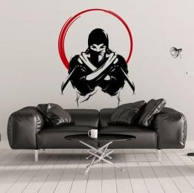 Vinile decorativo e adesivi sagoma ninja
