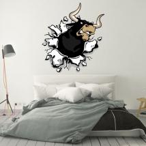 Vinile decorativo e adesivi toro coraggioso