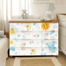 Vinile decorativo per comodo e mobili di bambino