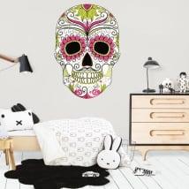 Vinile decorativo cranio giorno dei morti