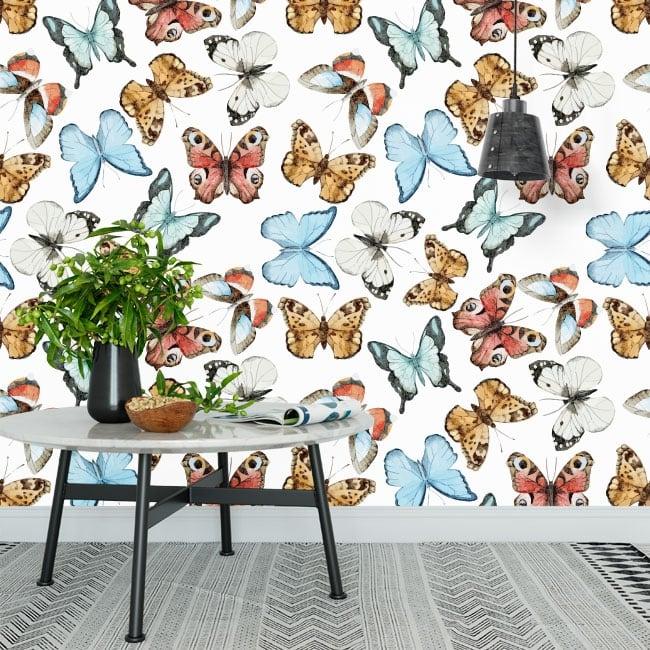 Murales in vinile con farfalle