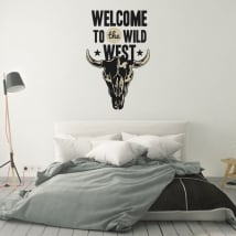 Vinile decorativo e adesivi welcome to the wild west