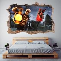 Adesivi decorativo fortnite 3d