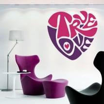 Adesivi e vinili decorativi cuore true love