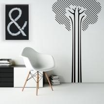 Vinile decorativo e adesivi albero di linea