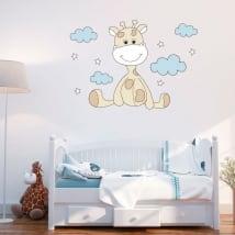 Vinili per il bambino nuvole e stelle della giraffa
