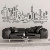 Vinile decorativo e adesivi skyline di new york