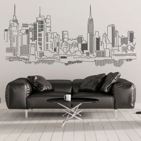 Vinile decorativo Skyline di Roma