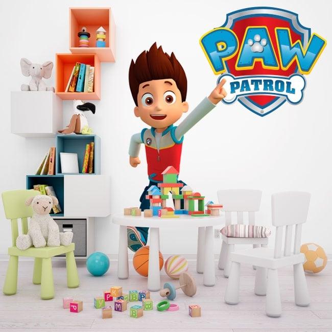 Vinile decorativo e adesivi paw patrol logo