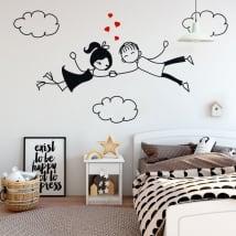 Vinile decorativo e adesivi amore tra le nuvole