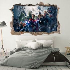 Adesivi murali i vendicatori 3d
