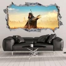 Sticker murale witcher fantasia 3d