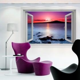 Vinile decorativo colori dell'alba 3d