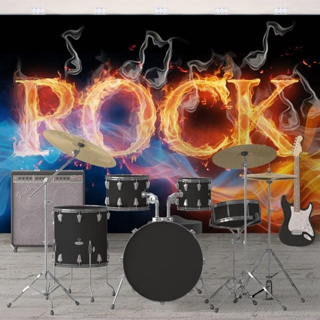 Murales di vinile rock and roll