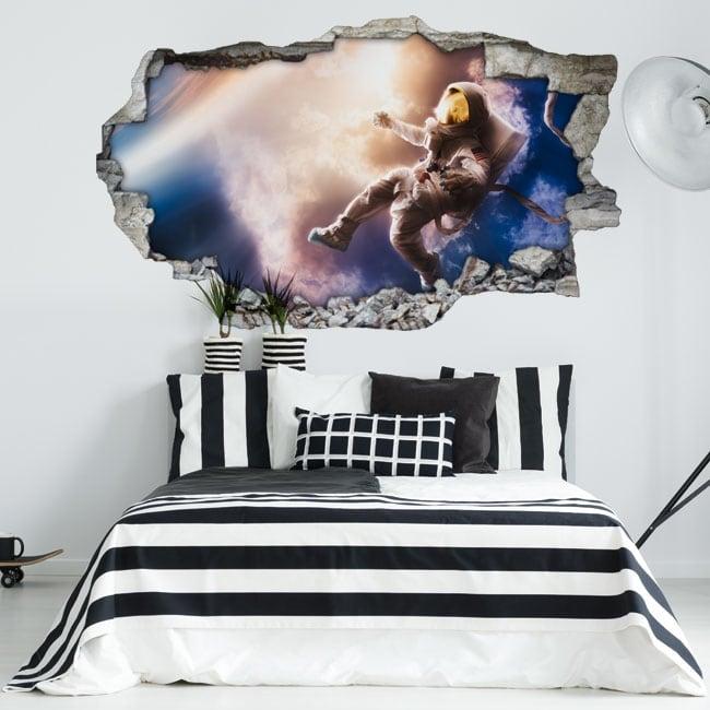 Vinili muri astronauta nello spazio 3d