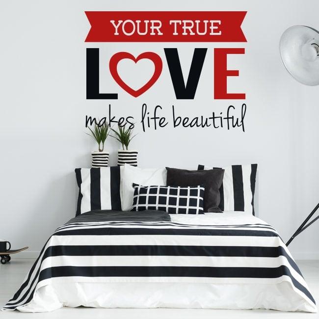 Vinile pareti frase romantica vero amore