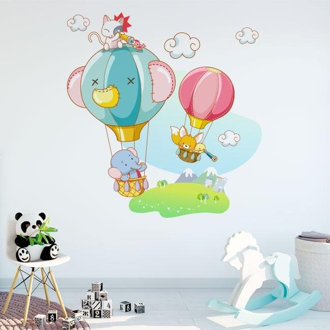 Vinile decorativo e adesivi avventure per bambini