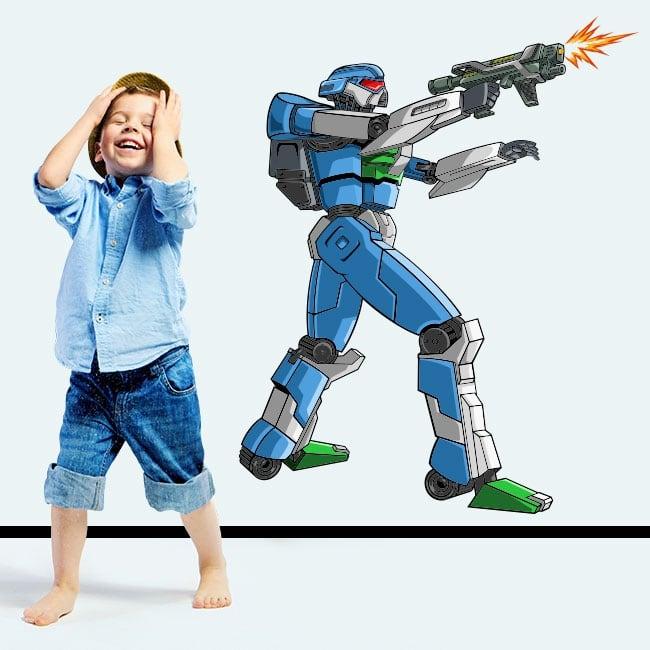 Vinile e adesivi robot da combattimento