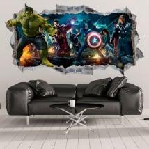 Vinile decorativo e adesivi hulk 3d