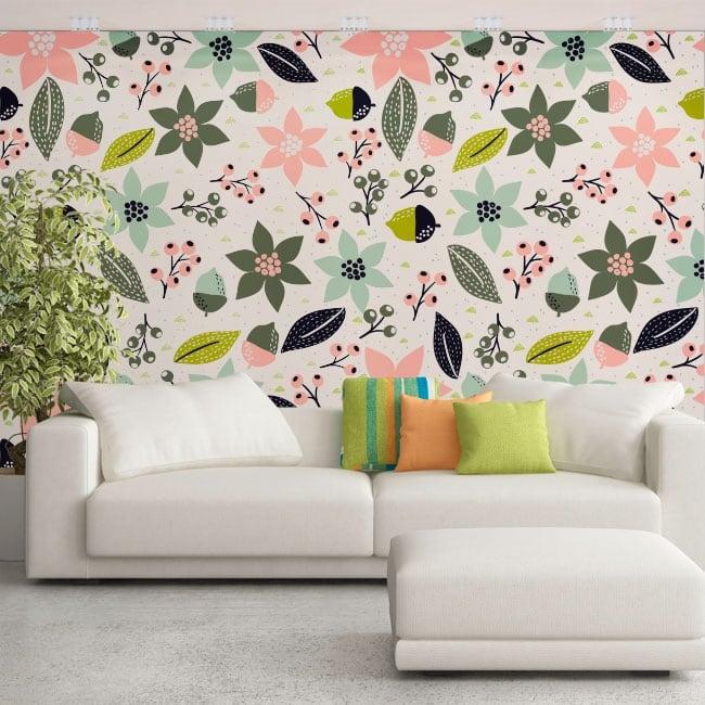 Adesivi murali in vinile fiori da decorare