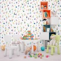 Murales in vinile con tratti colorati