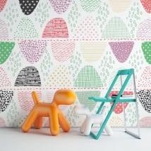 Murales in vinile forme geometriche