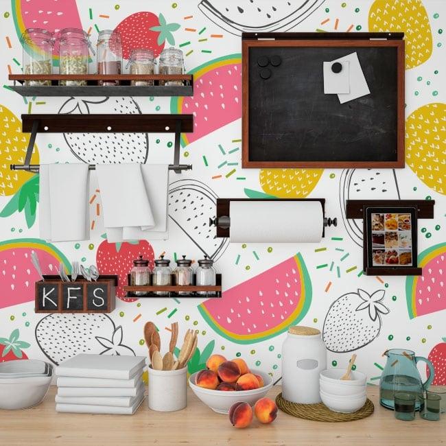 Murales in vinile frutta della cucina