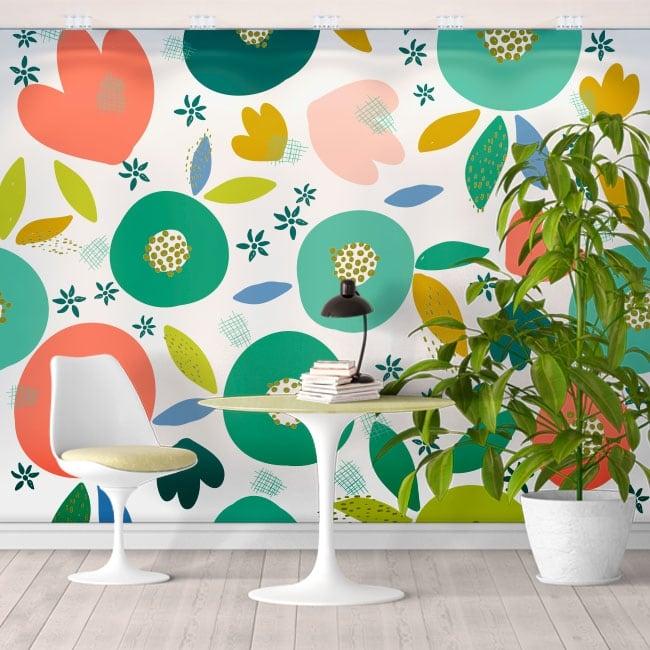 Murales in vinile colori tropicali