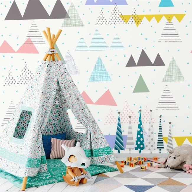 Murales triangoli e tratti