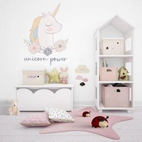Adesivi e vinili decorativi potere di unicorno