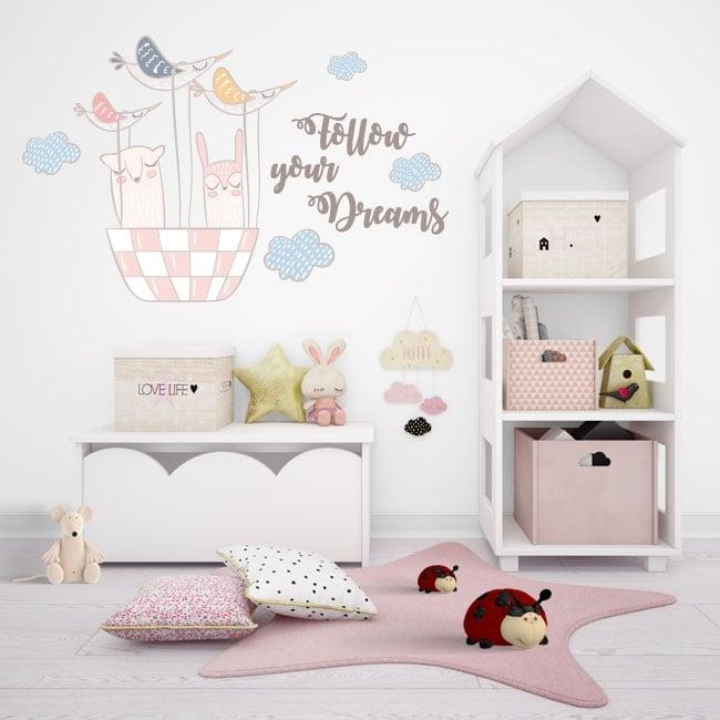 Vinile decorativo e adesivi follow your dreams