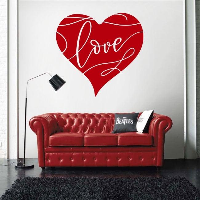 Vinile decorativo cuore amare