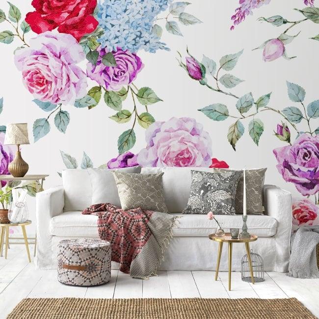 Murales in vinile con rose