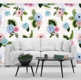 Foto murali di vinile fiori da decorare